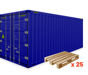 Container equipment on website - 40ft standard